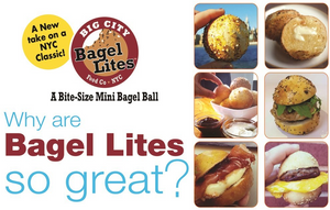 24 Bagel Lites Fresh, NYC Mini Bagel Balls- PLAIN (3 PACK)