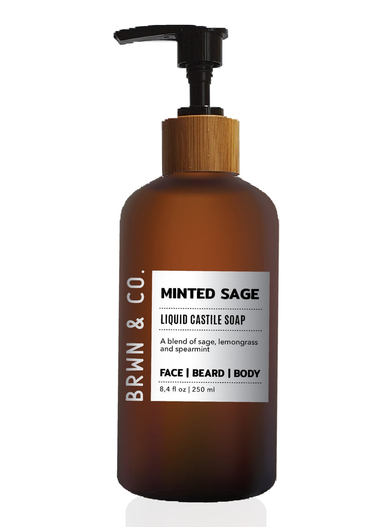 Minted Sage Face & Beard Wash