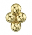 BVLA Gold Pin with Quad Bead Cluster
