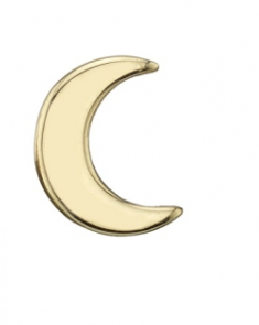 BVLA Pin with Tiny Crescent Moon