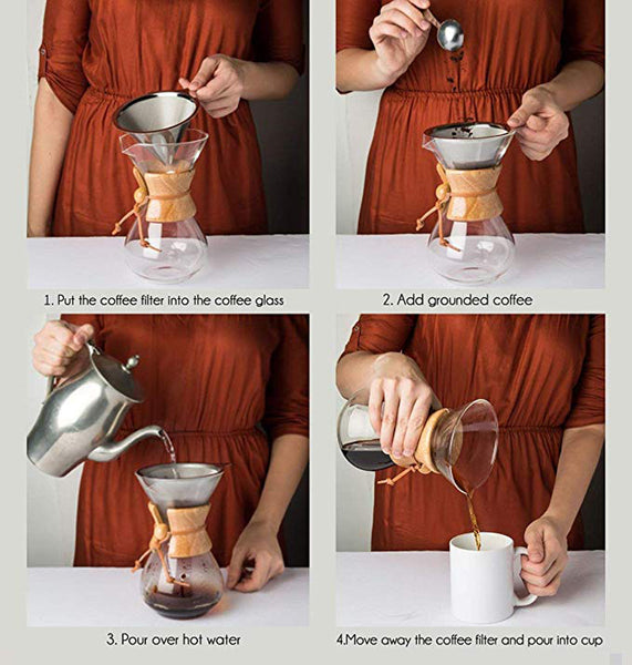 Pour Over Coffee Maker chemex