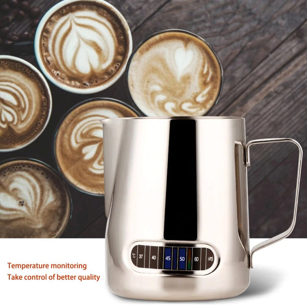Coffee Milk Frothing Pitcher With Thermometer
