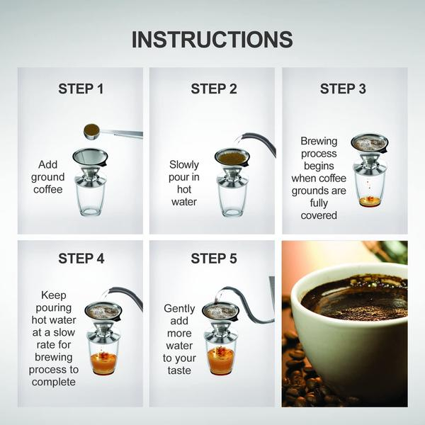 how to use Reusable Stainless Steel Coffee Filter