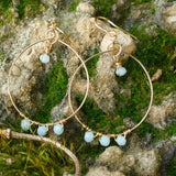 Beautiful Gold Plated Hoop Earrings - Hooked on Wire