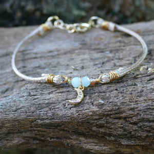 Cord Bracelet - Hooked on Wire