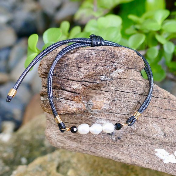Beautiful Handmade Cord Bracelet - Hooked on Wire