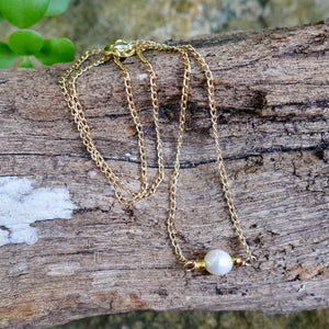 Beautiful Handmade Gold Filled Necklace - Hooked on Wire