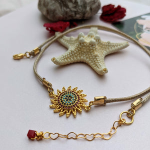 Delicate Colorful Star Cord Choker Necklace - Hooked on Wire