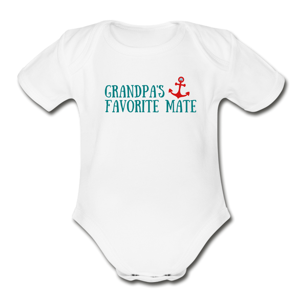 Organic Short Sleeve Baby Bodysuit (Baby Boy) - Hooked on Wire
