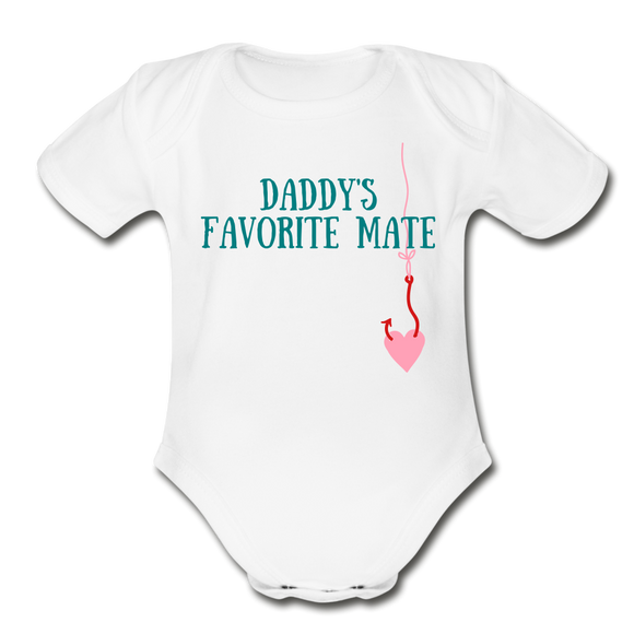 Organic Short Sleeve Baby Bodysuit (Baby Girl) - Hooked on Wire