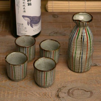 Aiko sake set mino ceramic japan hypanese