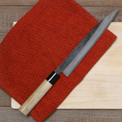 shizuko sujihiki sushi japanese chef carbon knife japan hypanese