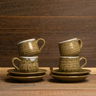 kiyo coffee cups saucer ceramic seto japan hypanese