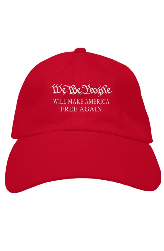WE THE PEOPLE MAKE AMERICA FREE AGAIN soft baseball cap
