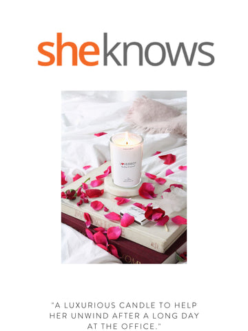 """SHEKNOWS """"A luxurious candle to help her unwind after a long day at the office."""""""