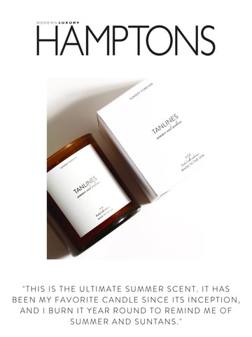 """HAMPTONS  """"this is the ultimate summer scent. it has been my favorite candle since its inception, and i burn it year round to remind me of summer and suntans."""""""