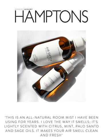 """HAMPTONS  """"This is an all-natural room mist I have been using for years. I love the way it smells; it's lightly scented with citrus, mint, palo santo and sage oils. It makes your air smell clean and fresh"""""""