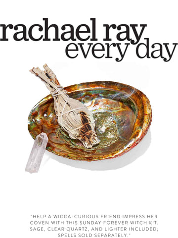 """RACHAEL RAY EVERY DAY """"Help a Wicca-curious friend impress her coven with this Sunday Forever Witch Kit. Sage, clear quartz, and lighter included; spells sold separately."""""""