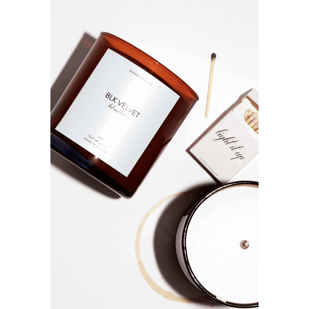 Sunday Forever NYC Blk Velvet Candle (Hot and Bitter Coffee)