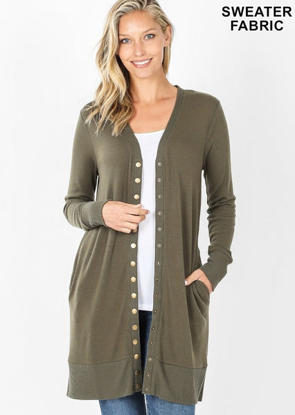 Cardigan with Button-Down Front (Multiple Colors!)