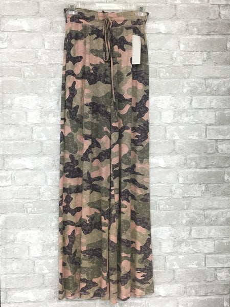 Pink and Green Camo Lounge Pants (Small)