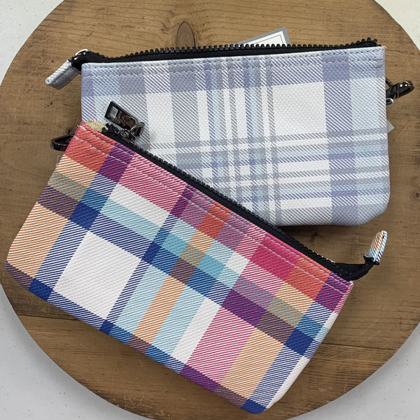 Plaid Wristlets (Blue and Pink Multi)