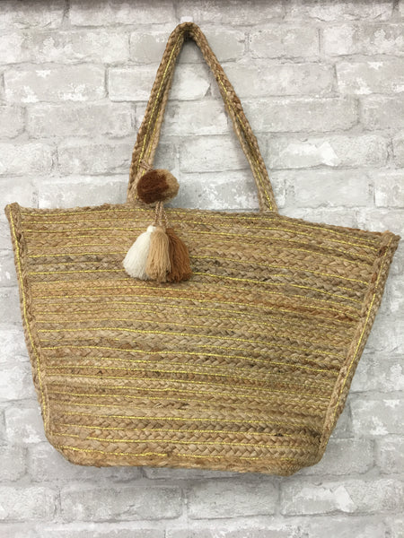 Straw Tote Purse by America & Beyond