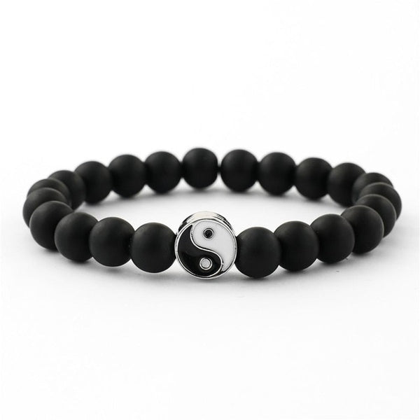 Yin And Yang Bead Bracelet