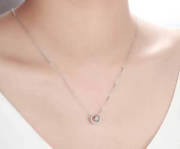 Moon & Star Pendant Necklace