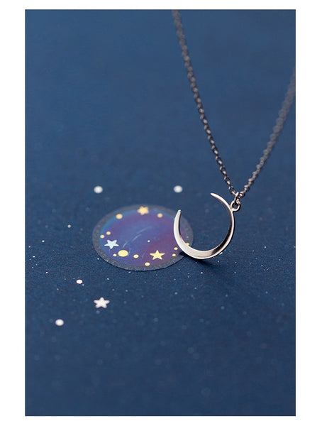 Moon Crescent Pendant Necklace