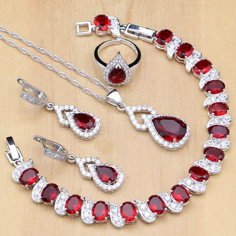 Red Stone Jewelry Set