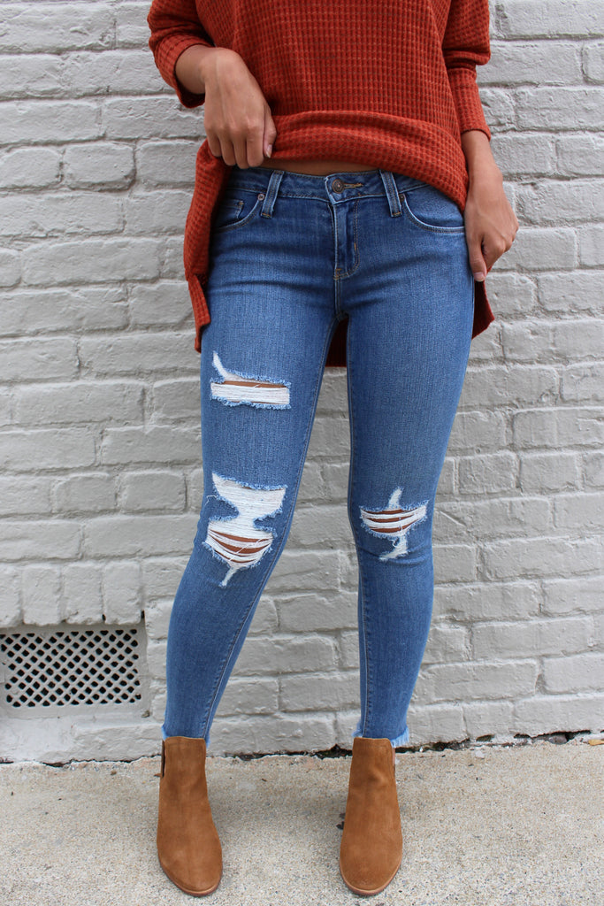 frayed hem jeans - Truly Yours