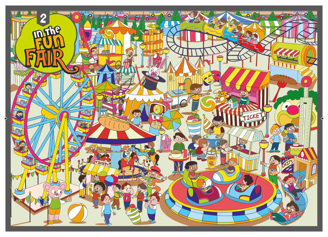 In the fun fair- Colouring Poster