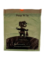 Poop 'N Tie Fabric Waste Bag Dispenser With 2 Rolls