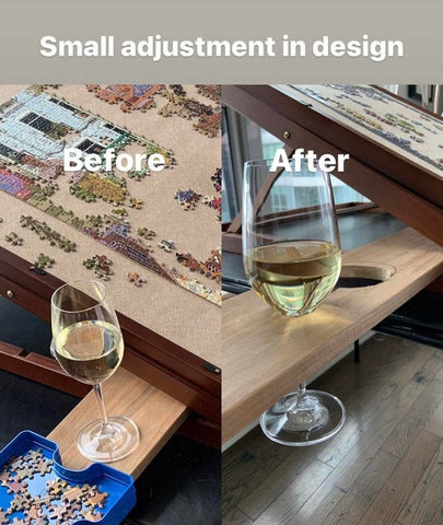 wine holder for a puzzle table