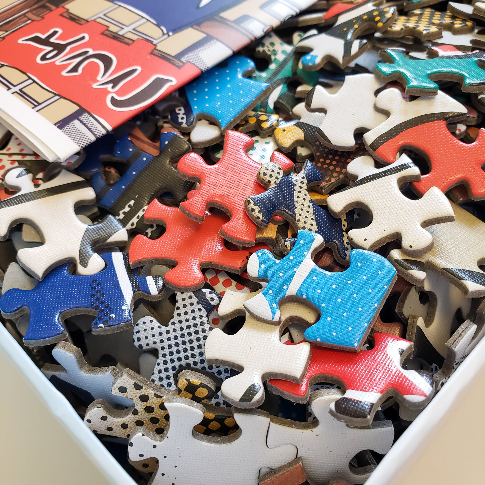 Puzzle Box and Pieces