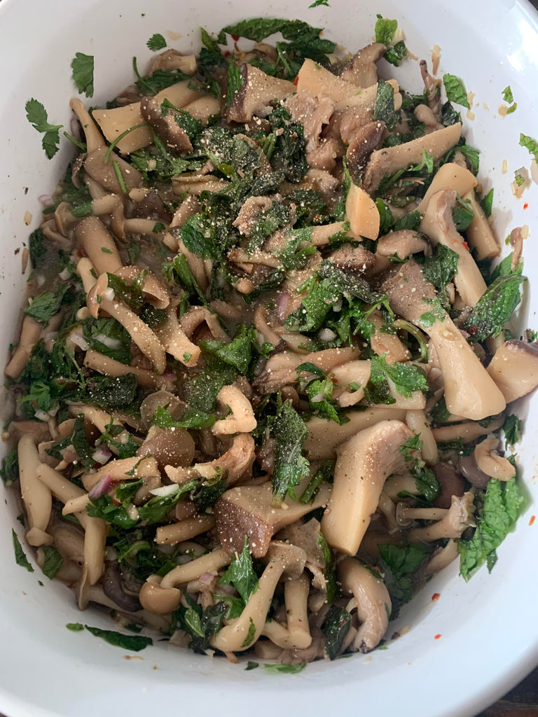 Pok Pok Mushroom Salad (with some tweaks)