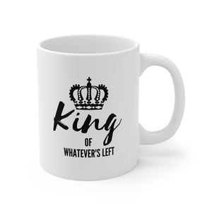 King of whatever's left mug - couple mug