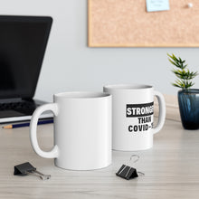 Load image into Gallery viewer, Stronger than Covid-19 mug - black
