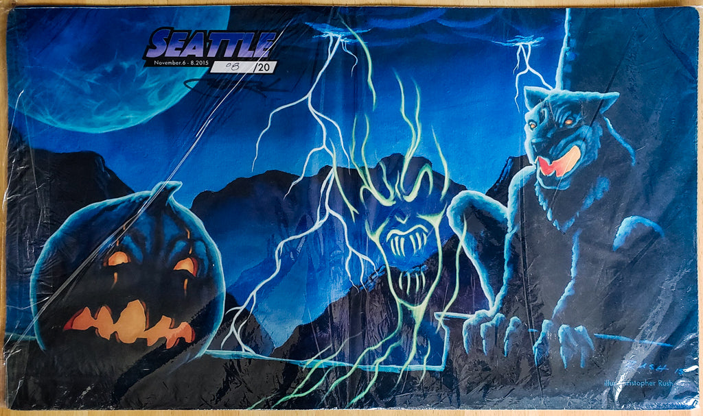 All Hallow's Eve - Grand Prix Seattle 2015 - Signed by Artist - Limited Edition - MTG Playmat