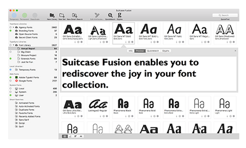 Suitcase Fusion 8 (bundled w/FontDoctor) - Full version