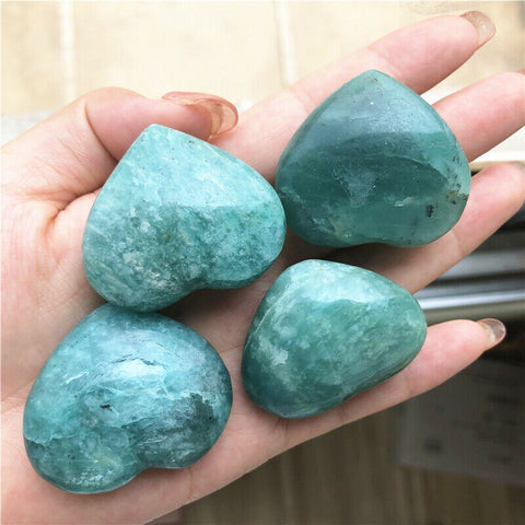 Amazonite Quartz Crystal Heart