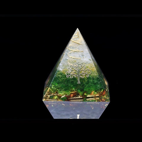 Image of Orgonite Pyramid - Heart Chakra - Self Love Healing