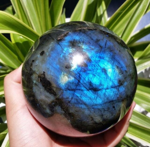 Natural Labradorite Crystal Sphere