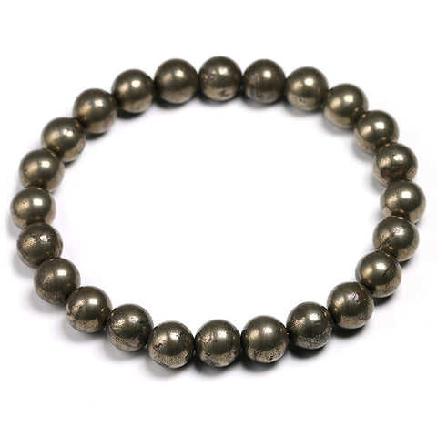 Crystal Bracelet - Natural Stone Pyrite