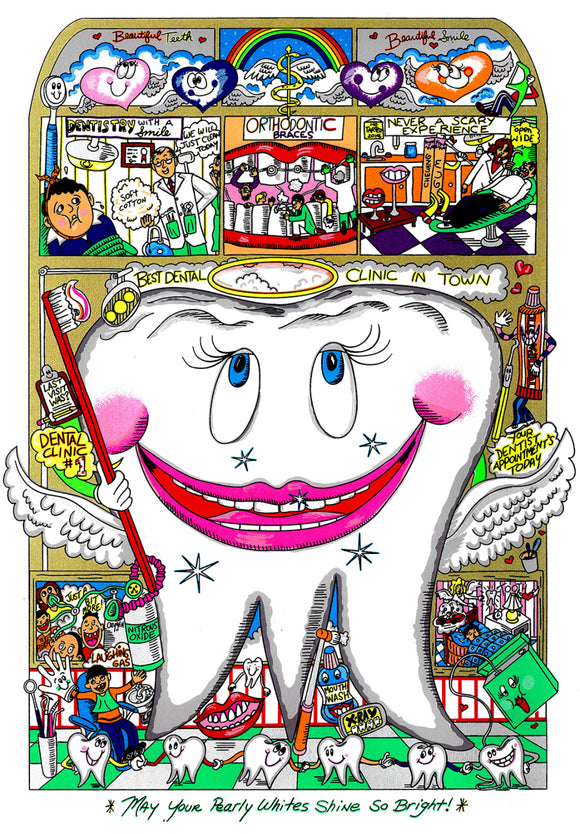 Charles Fazzino 3-D Dental Art