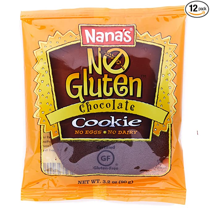 Nana's No Gluten Chocolate Cookies, Case (3.2 Ounce - 12 Pack)