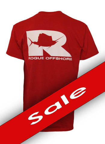 Sailfish Logo SS T-Shirt - Cardinal Red / Light Grey