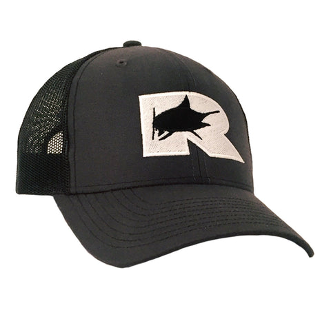 Rogue Marlin Trucker Hat - Dark Charcoal / Black