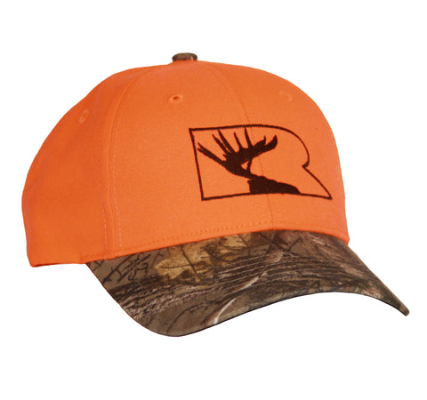Rogue Outfitters Antlers Camo Strapback - Orange with Camo Bill
